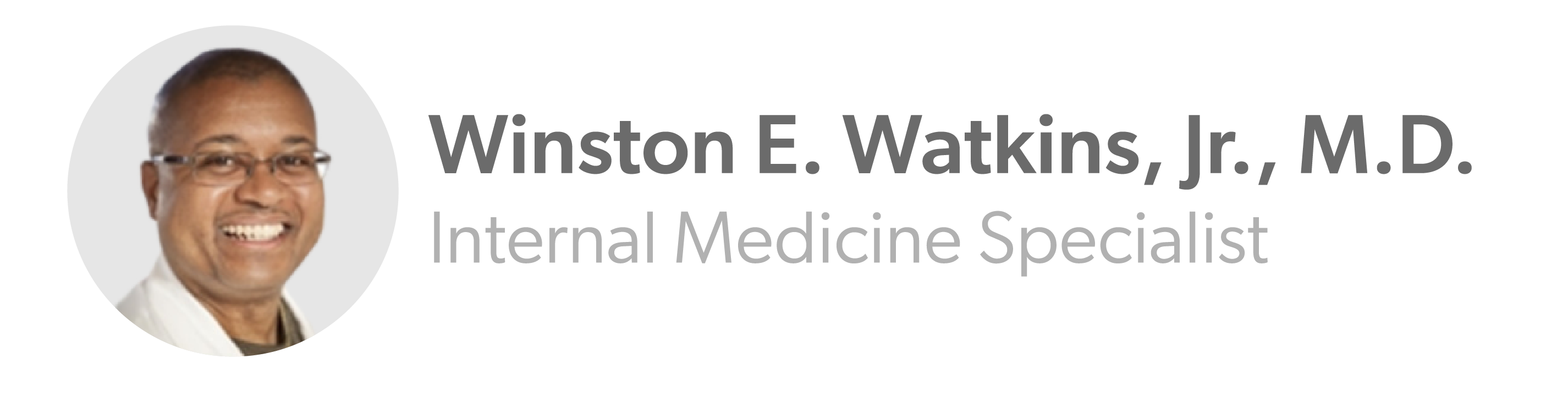 """""""Winston E. Watkins"""""""
